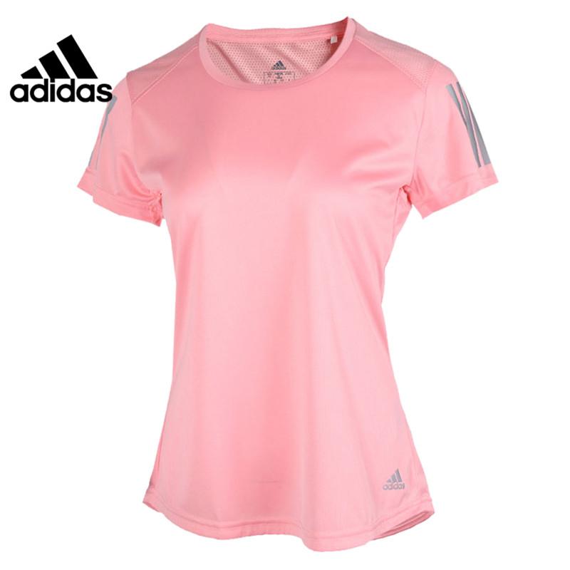 Adidas阿迪达斯粉色短袖女装2020新款透气速干跑步健身T恤FL7815