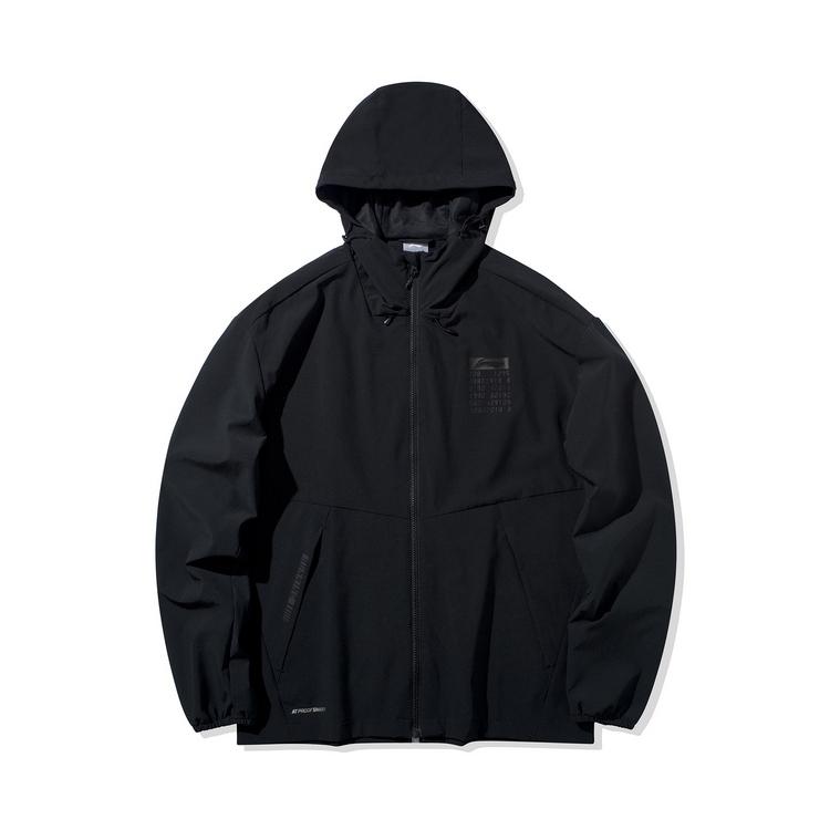 李宁2020新款开衫风衣男士防泼水连帽防风服梭织运动服AFDQ027