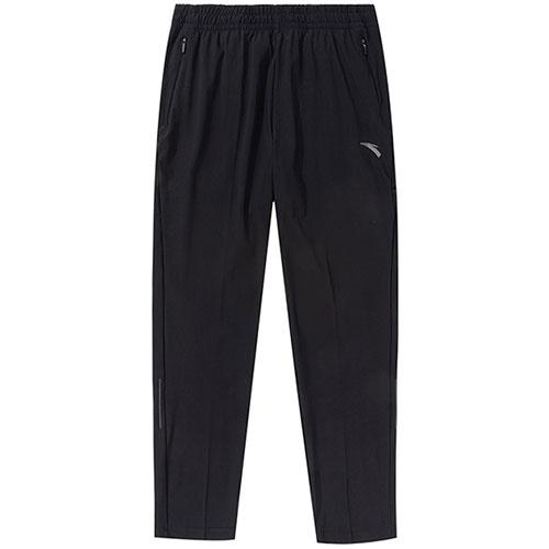 安踏夏季修身裤子男薄款长裤2020新款速干运动裤针织152025311-1