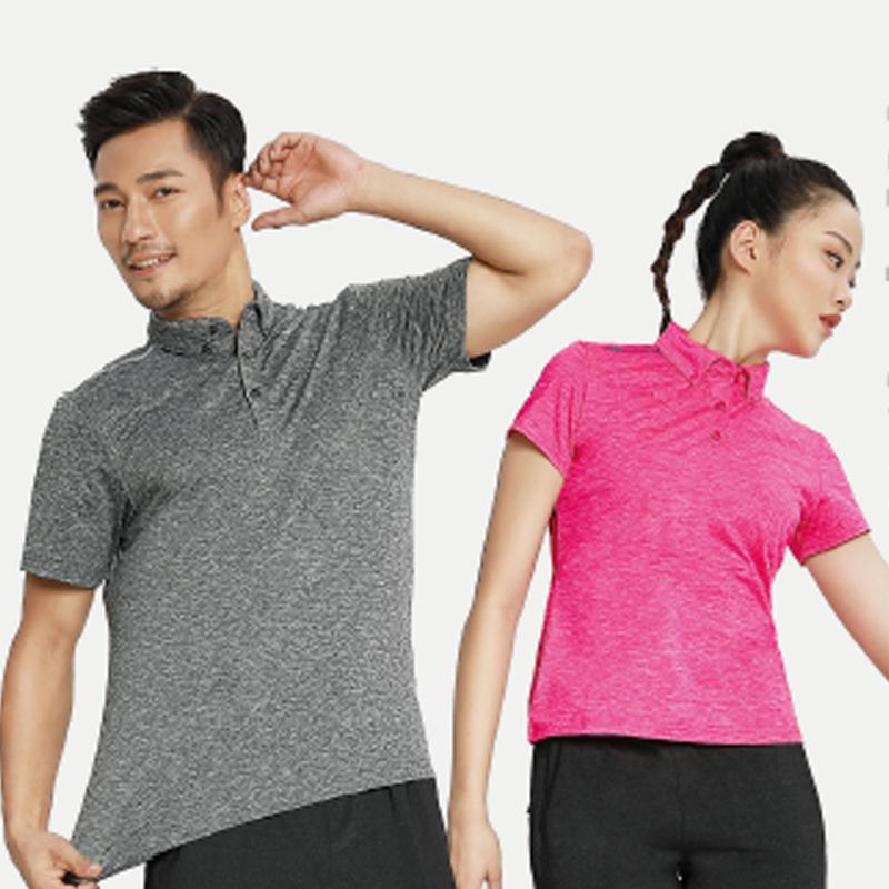巴特侬夏季新款运动polo衫短袖男女纯棉透气休闲运动服夏装t恤M8151/W8152