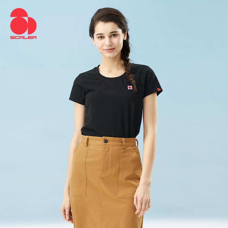 思凯乐户外2020春夏新品弹力透气短袖休闲文化衫女T恤F4001770