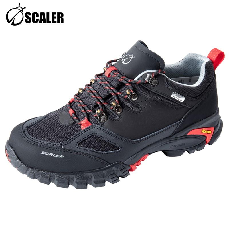 思凯乐户外X9500935男女磨砂皮防水低帮登山鞋徒步鞋子X9510935