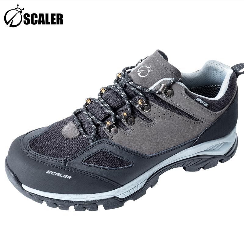 思凯乐SCALER户外男女同款翻毛皮防水低帮登山鞋徒步鞋子X9510934