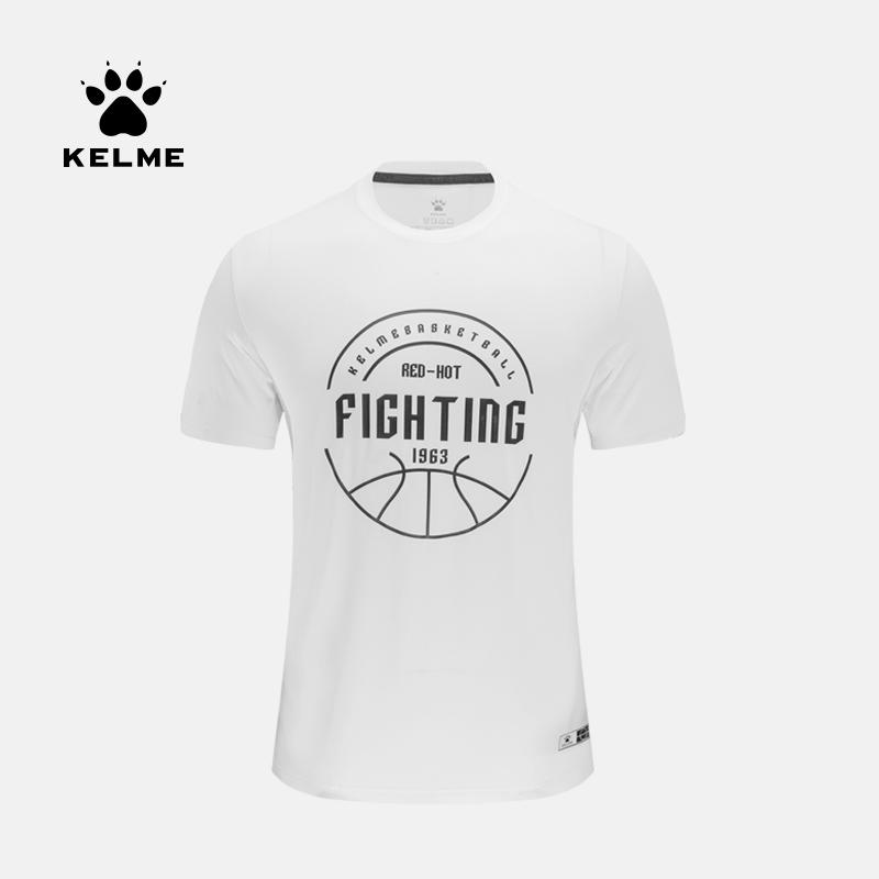 KELME卡尔美春夏新款运动短袖T恤男篮球休闲文化衫 3591539