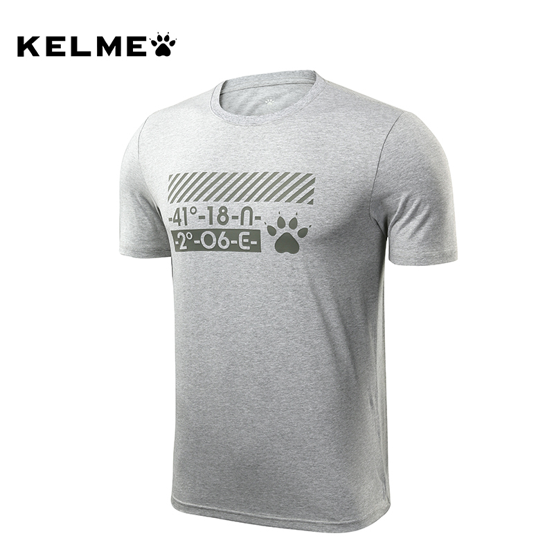 kelme卡尔美运动短袖T恤男夏季户外跑步透气排汗圆领套头衫 3881508