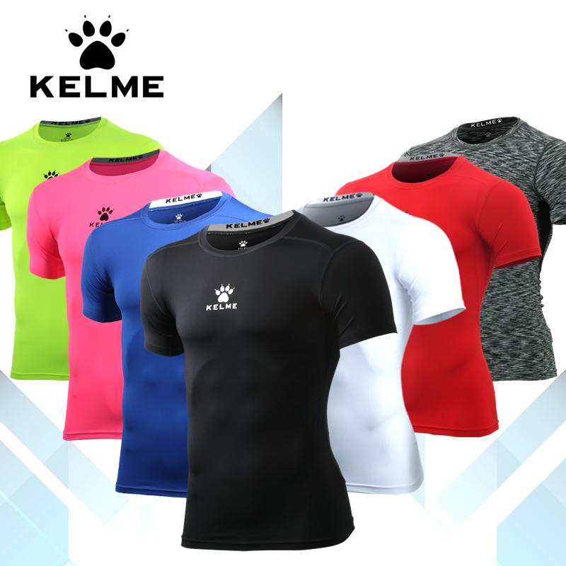 KELME卡尔美紧身衣男 弹力t恤薄款运动短袖透气健身衣K15Z731