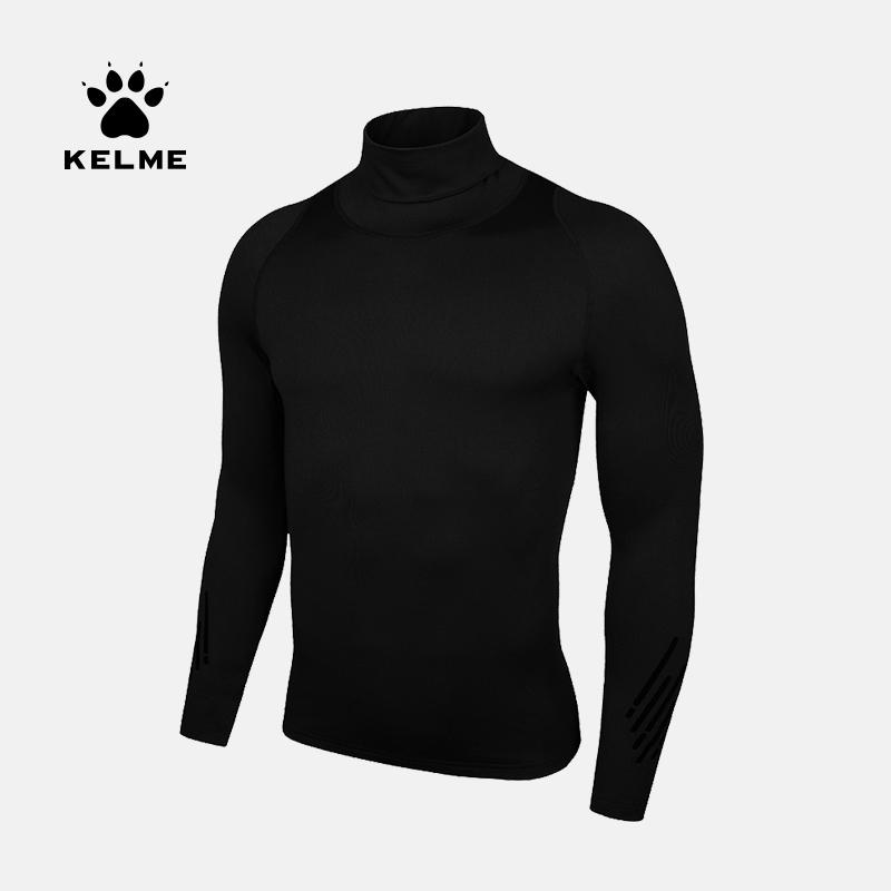 KELME卡尔美 紧身衣男长袖篮球压缩足球高领健身衣跑步运动健身服 3881109