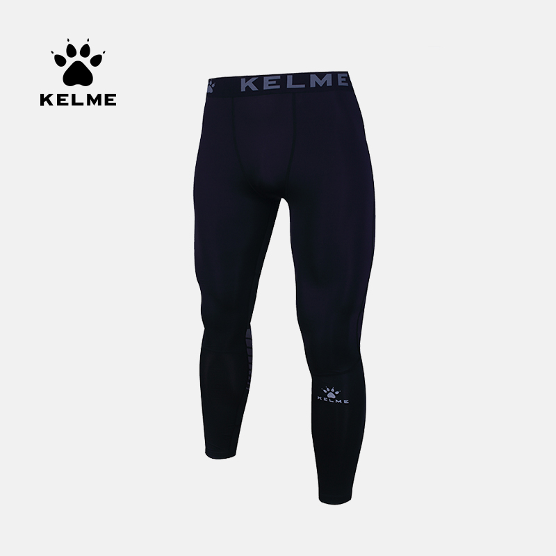 KELME卡尔美 健身长裤男紧身裤运动训练跑步速干透气足篮球打底裤 3881111