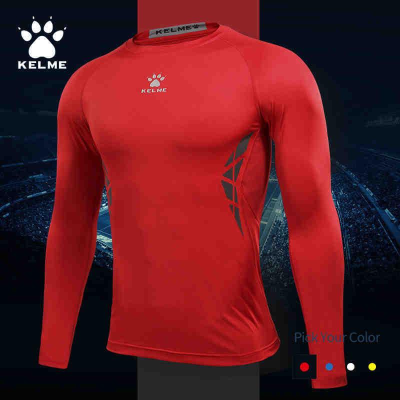 KELME卡尔美透气运动紧身衣速干训练服篮球足球跑步健身打底T恤男 3871101