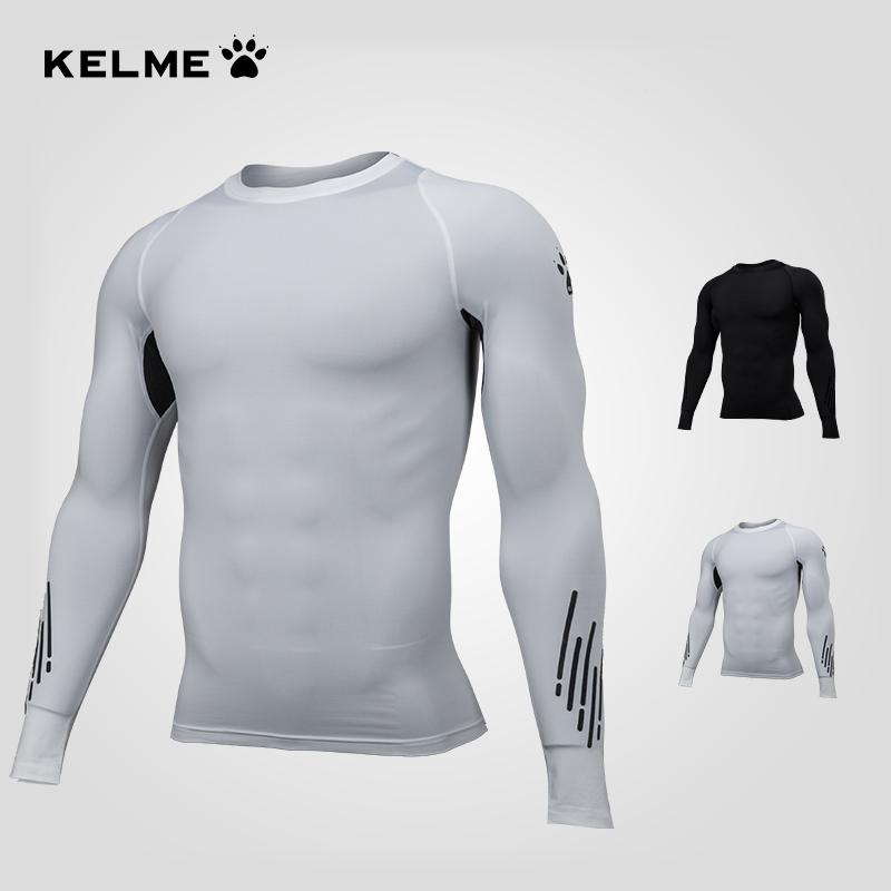 KELME卡尔美秋冬运动紧身衣长袖跑步健身透气打底训练T恤3881108