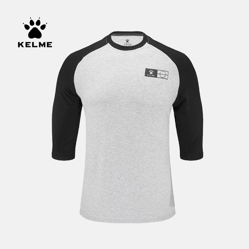KELME卡尔美夏季新款休闲T恤男士运动篮球七分袖中袖 3591540