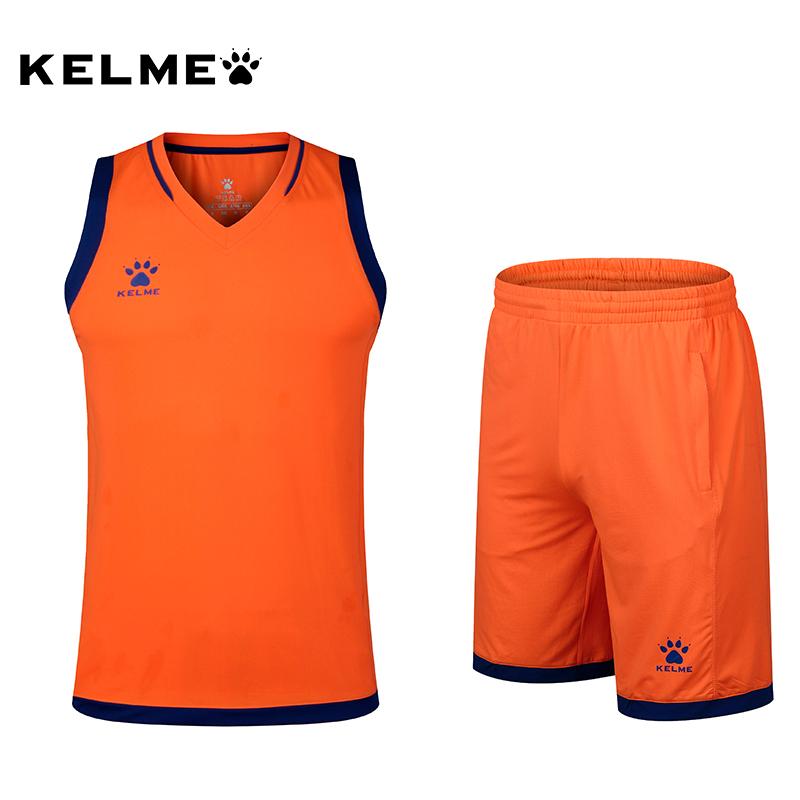 kelme卡尔美篮球服印千亿网址多少篮球衣透气速干训练比赛队服短裤K15Z102