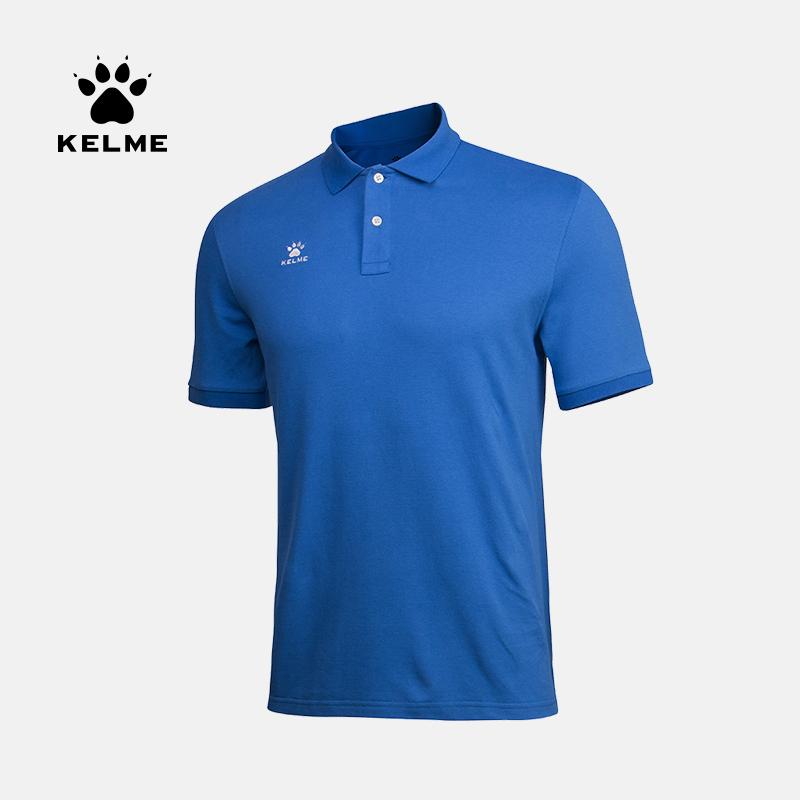 kelme卡尔美运动t恤男短袖休闲跑步足球组队透气纯色女POLO衫定制 K15F117-1