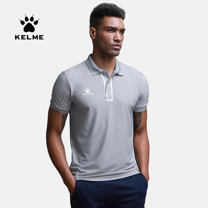 KELME卡尔美短袖POLO衫短袖T恤休闲上装翻领纯色3881016