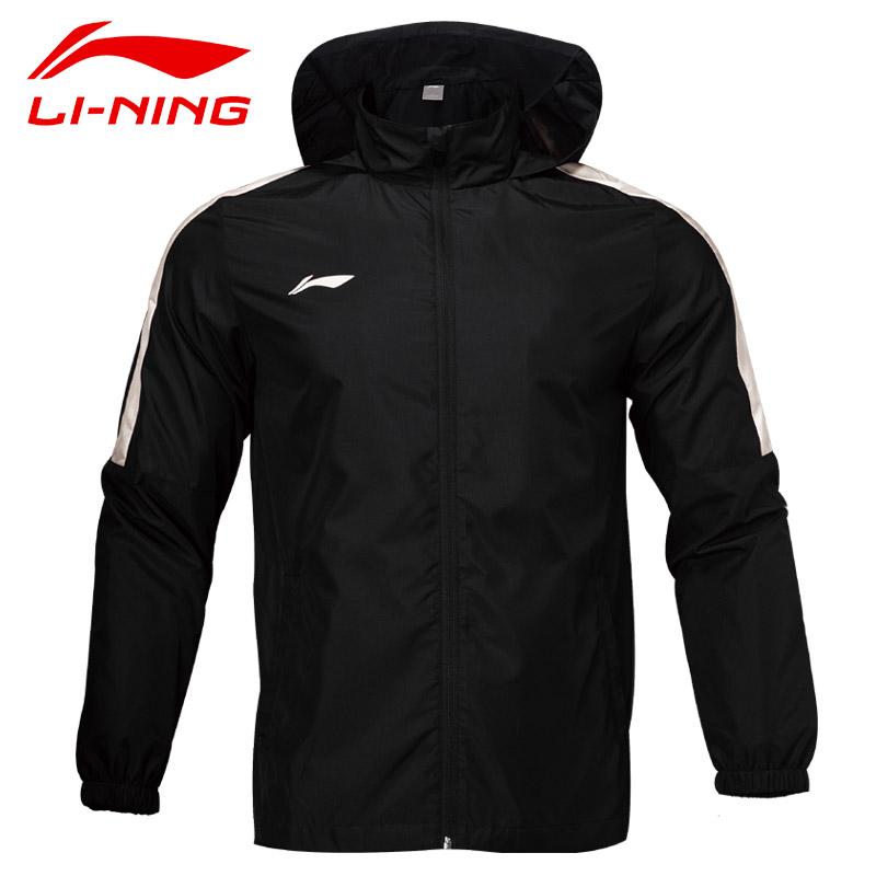 李宁正品男子 运动外套运动风雨衣训练风衣男足球训练外套AFDN365、  AFDN482