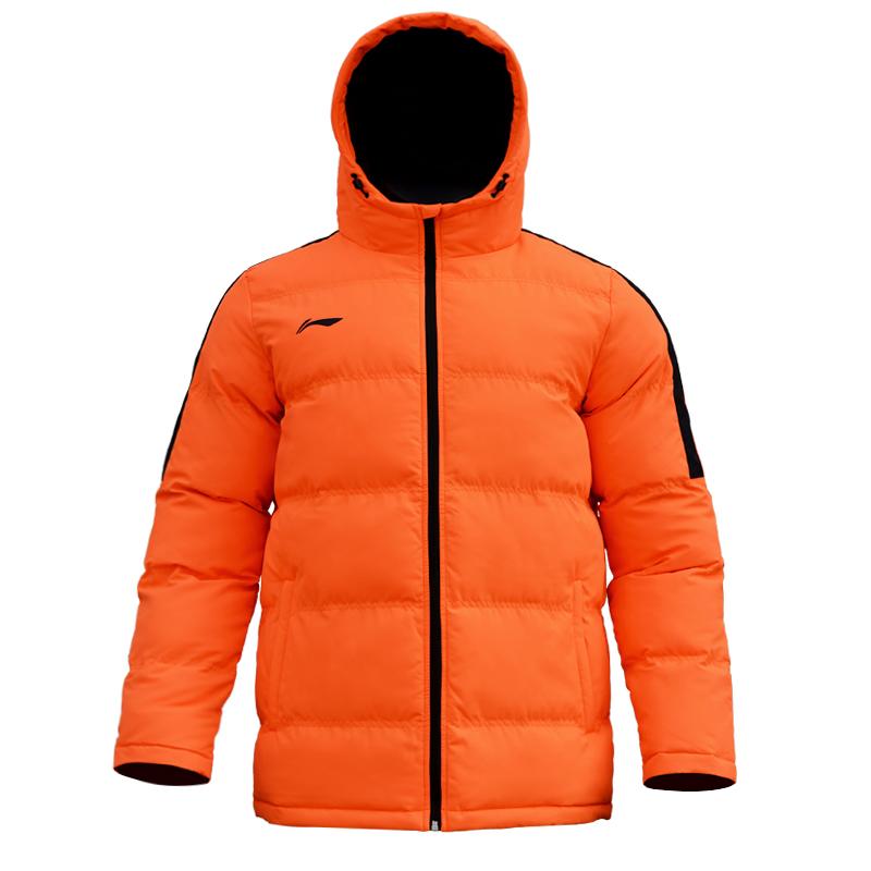 LINING李宁冬季男子足球训练服保暖棉衣短款棉服外套AJMN023、AJMN022