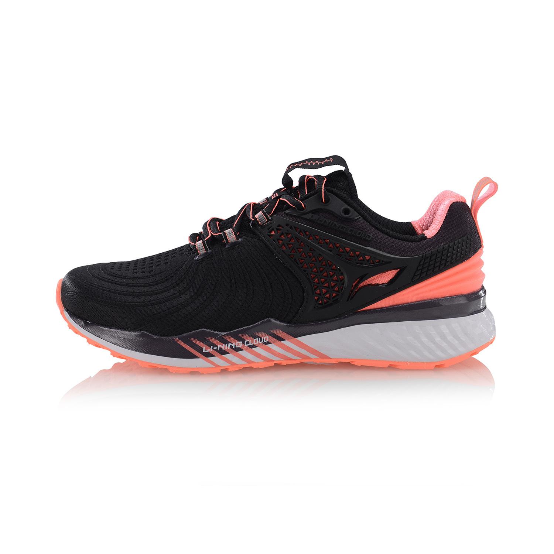 李宁女减震跑鞋标准黑/荧光珊瑚粉、标准黑/标准白ARHP008-1-6