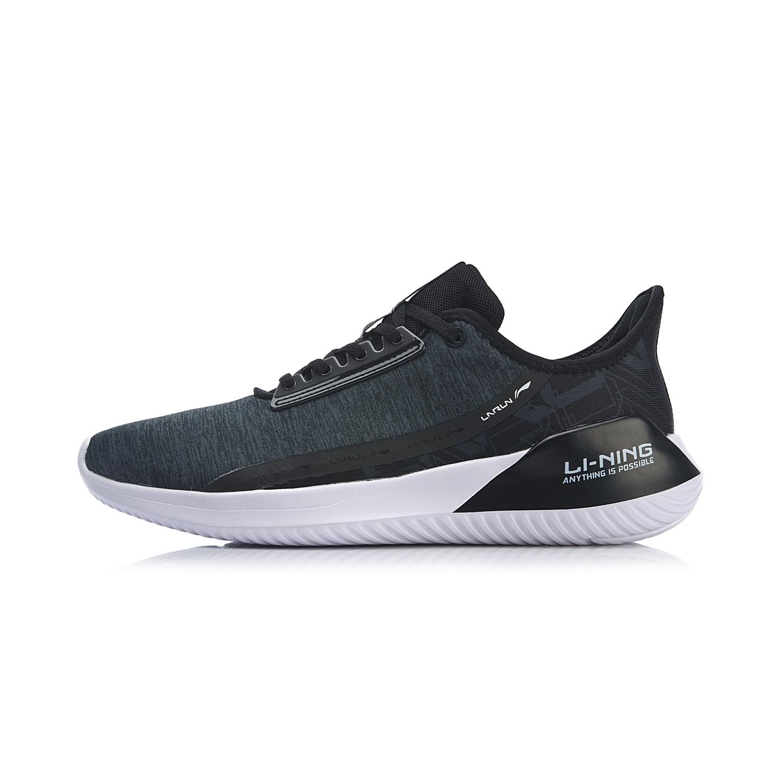 李宁ARHP051-61  标准黑/冷檀黑/标准白 男减震跑鞋