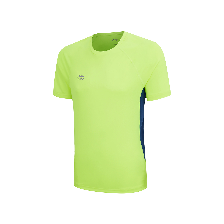 李宁男女同款ATSQ169-1-2-3-4 /ATSQ144-1-2-3-4团购139短袖T恤荧光亮绿/藏青蓝、荧光耀橙/标准黑、晶蓝色/标准白、标准白/晶蓝色