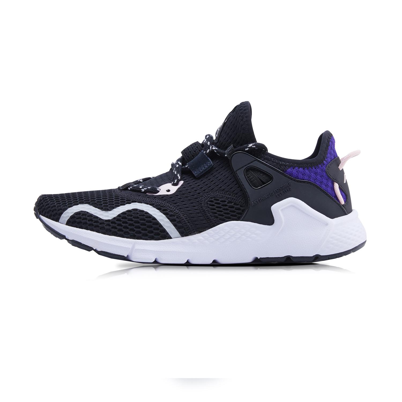 李宁AGLQ026-2  标准黑/自由紫 女潮流休闲鞋