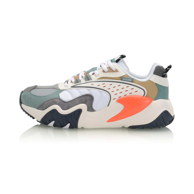 李宁AGLQ022-2  米白色/标准白/灰水绿、标准黑/标准白    女潮流休闲鞋