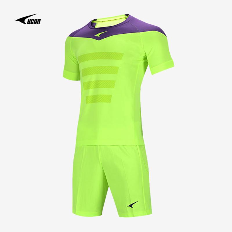 2019年新款锐克守门员套装短袖足球门将服裤子带保护垫211K09139