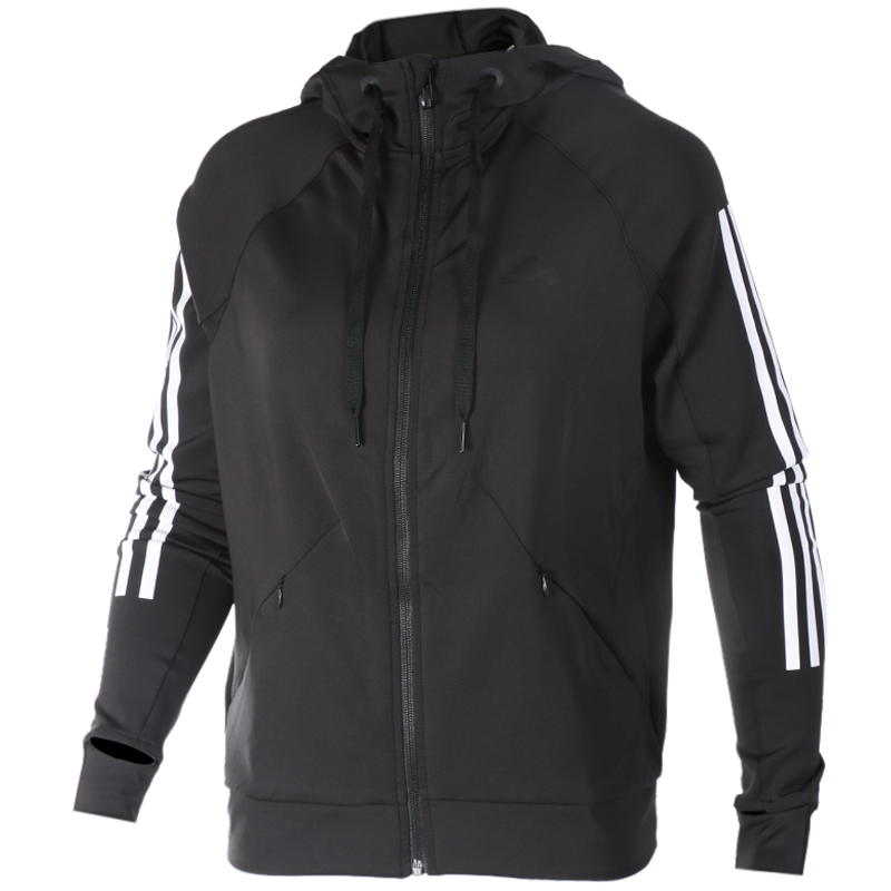 Adidas阿迪达斯女装2020春夏季新款运动服连帽针织夹克外套BK7675