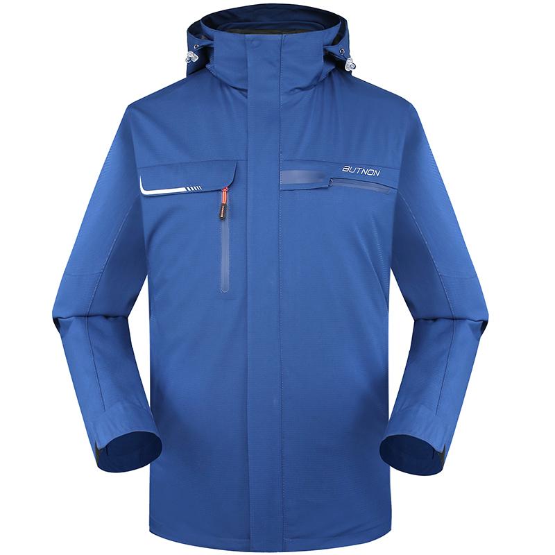 butnon巴特侬男装外套 冬季新品三合一冲锋衣防水保暖两件套运动服M8607