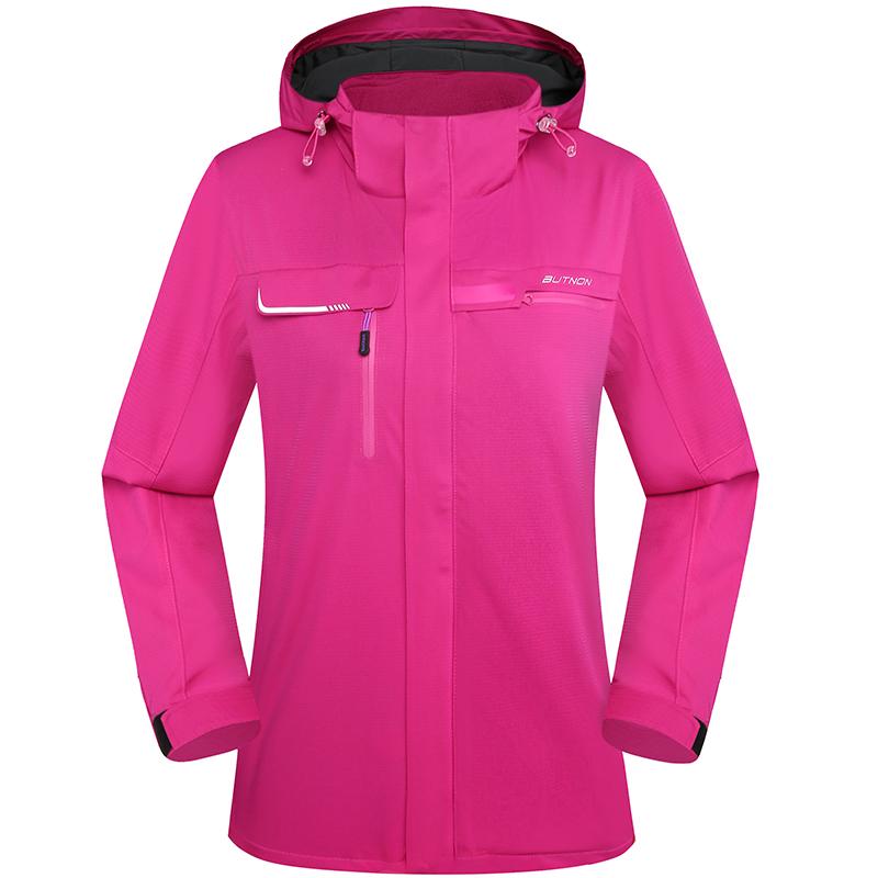 butnon巴特侬三合一冲锋衣女外套防水加绒保暖冬季运动服户外服装8608