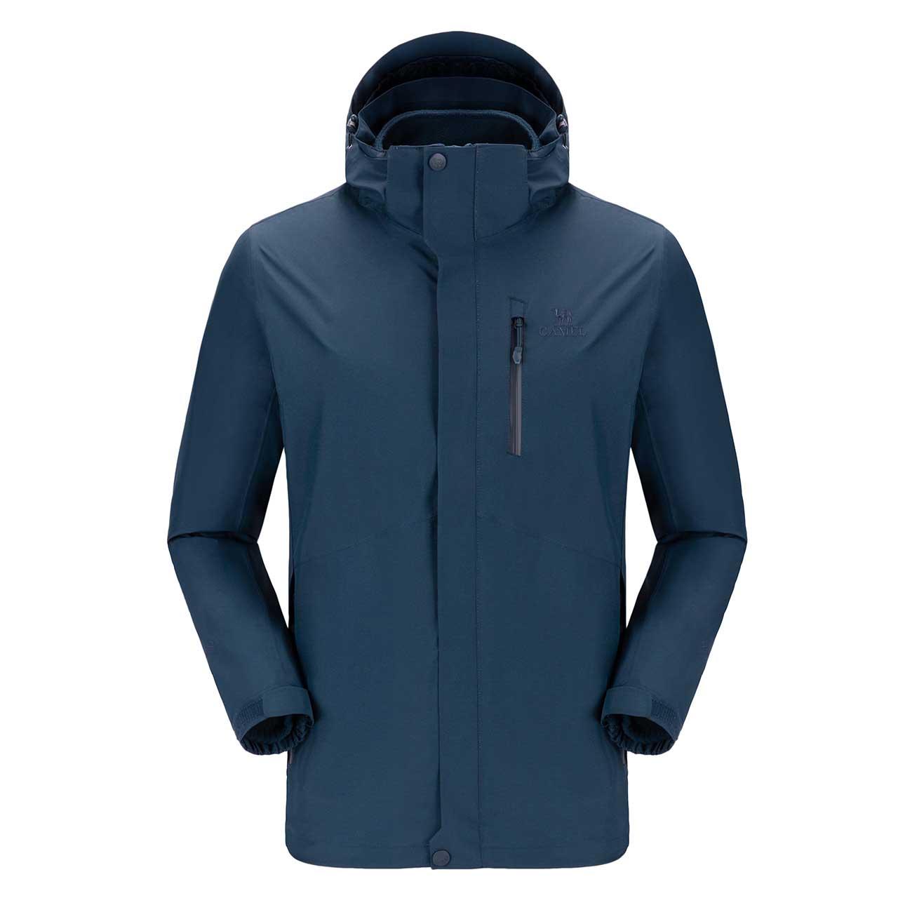 骆驼户外冲锋衣男女登山服装加绒加厚两件套三合一可拆卸潮牌外套a9w280103