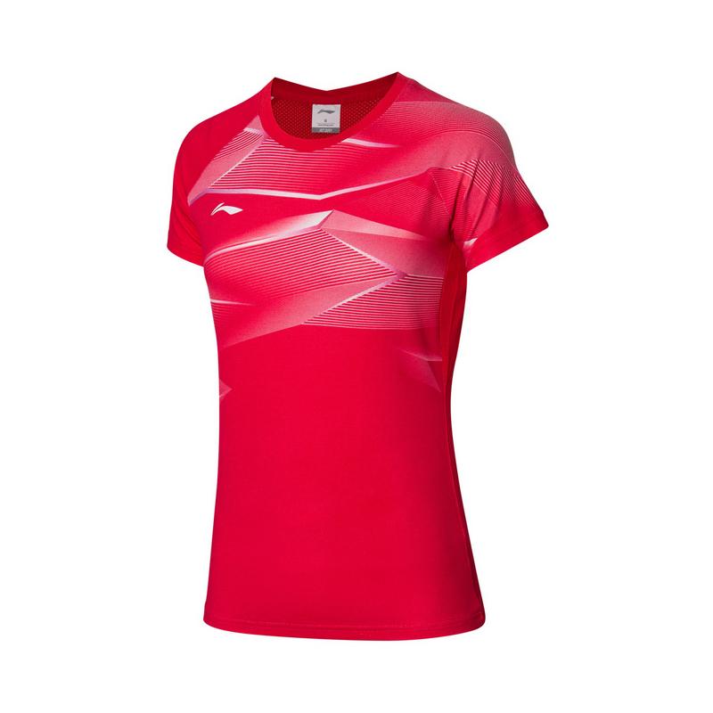 【2021新品】李宁羽毛球系列女子速干凉爽专业比赛上衣AAYQ134