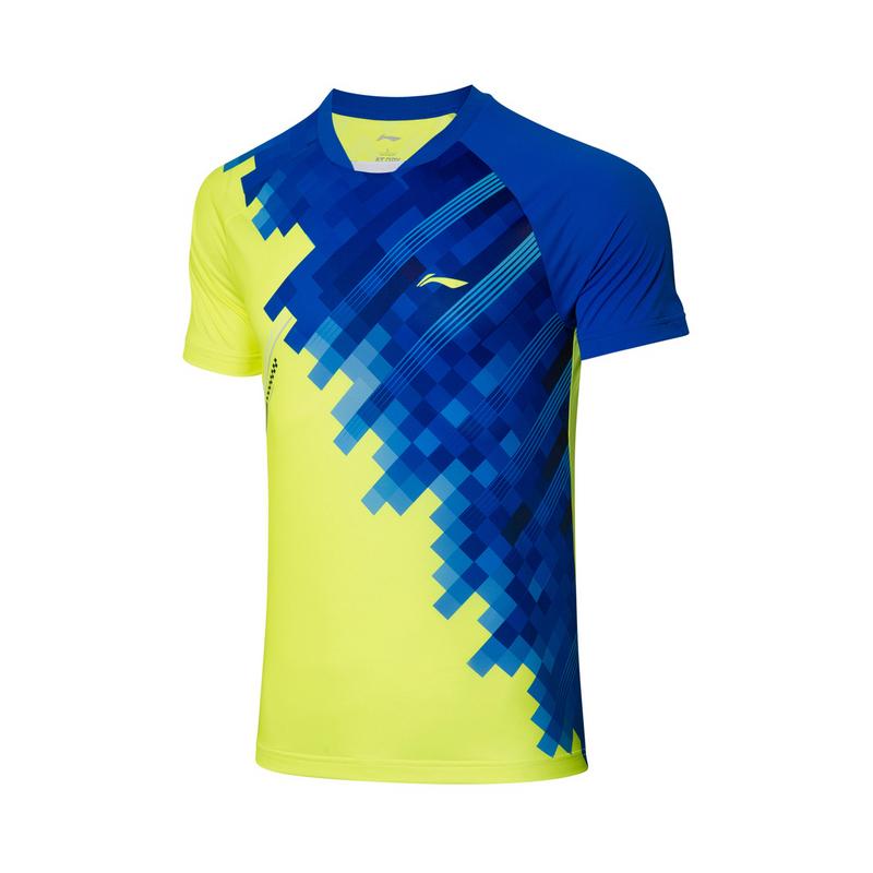 【2021新品】李宁羽毛球男子速干凉爽运动服专业比赛上衣AAYR195