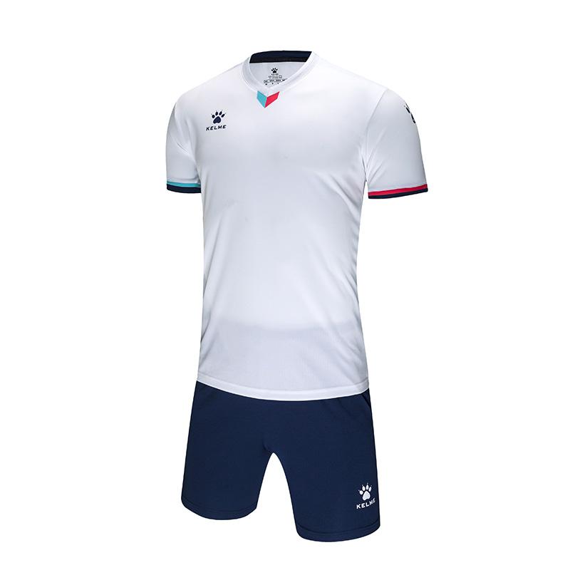 KELME卡尔美足球服运动套装男夏季透气薄款球服团购定制服比赛训练服短袖球衣3891048标准版