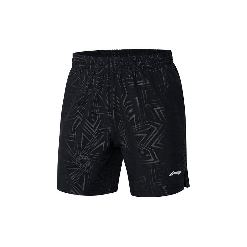 【2021新品】李宁羽毛球男子弹力舒适运动裤专业比赛短裤AAPR071