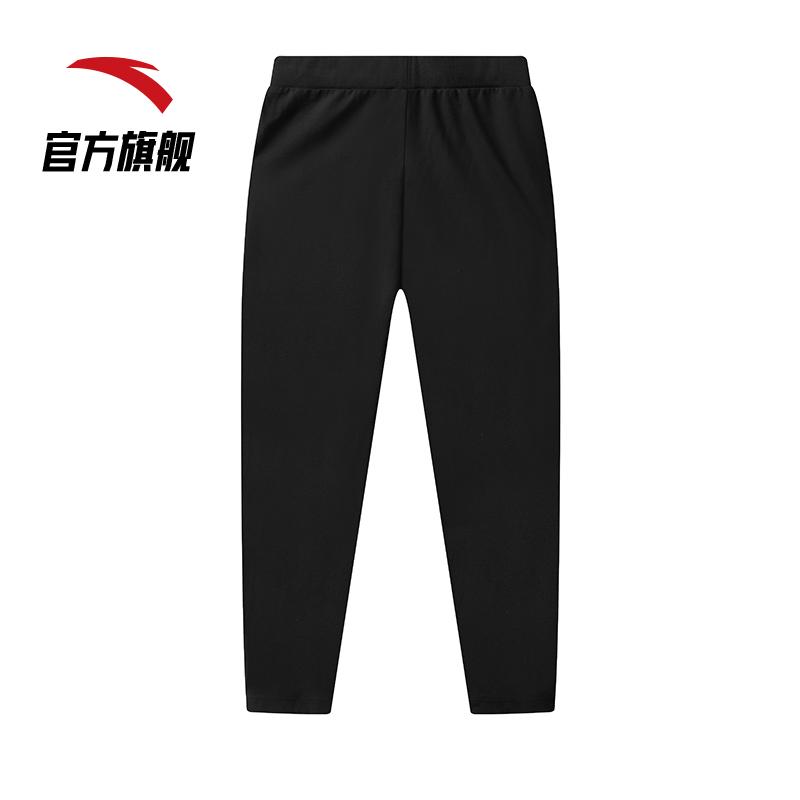 安踏运动裤女2021春季新款潮流显瘦束脚收口跑步健身瑜伽运动长裤162118315-1