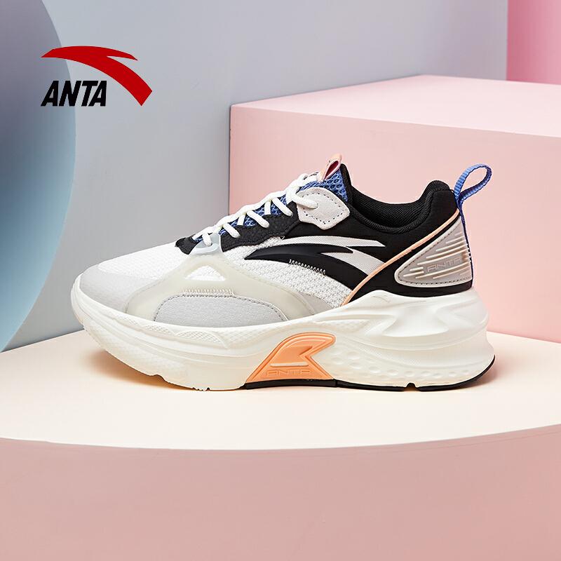 安踏女鞋运动鞋女2021新款网面透气厚底跑步鞋休闲鞋子122118812