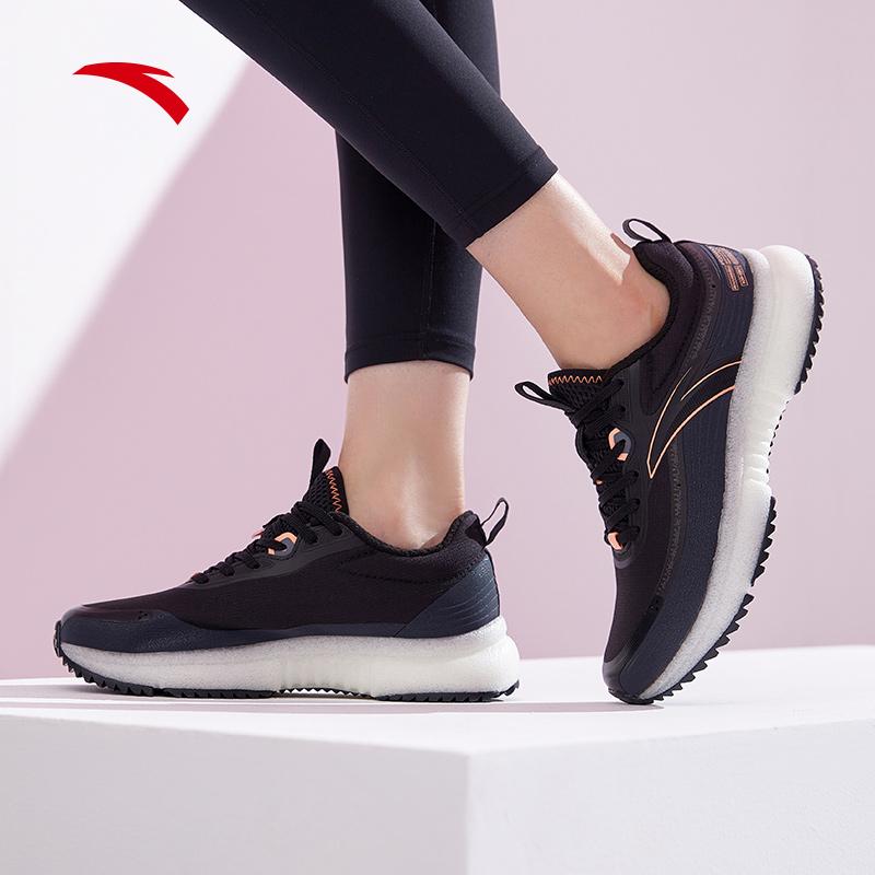 安踏女鞋运动鞋春季2021新款网面跑步鞋轻便休闲鞋122045520