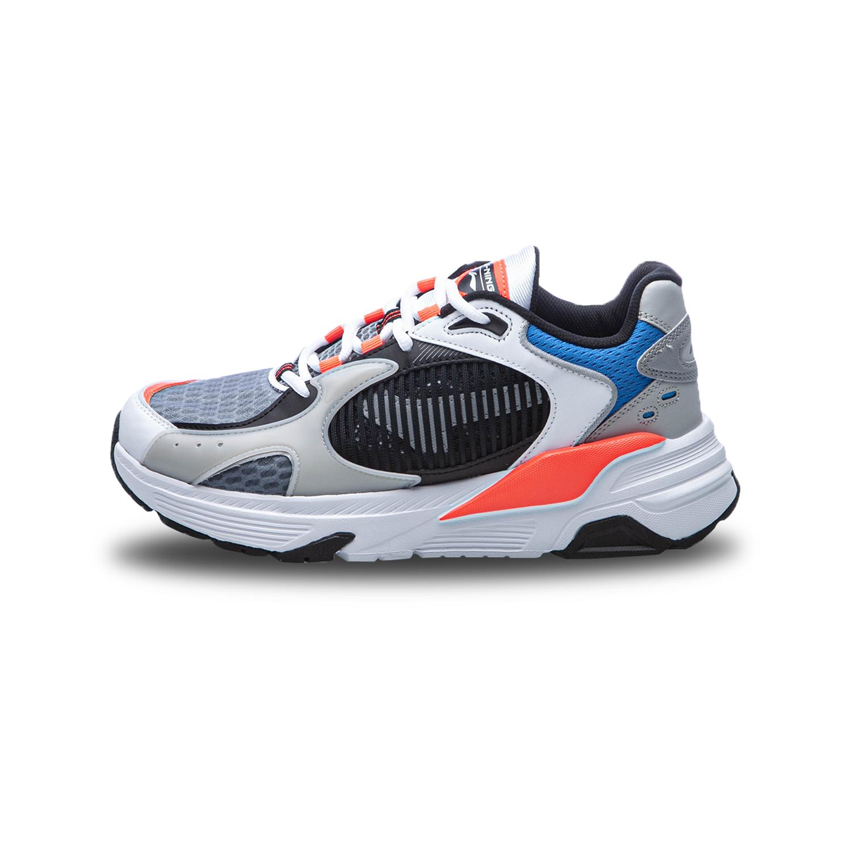 李宁 AGCQ051-1  岩石灰/标准黑/硬币灰 男经典休闲鞋