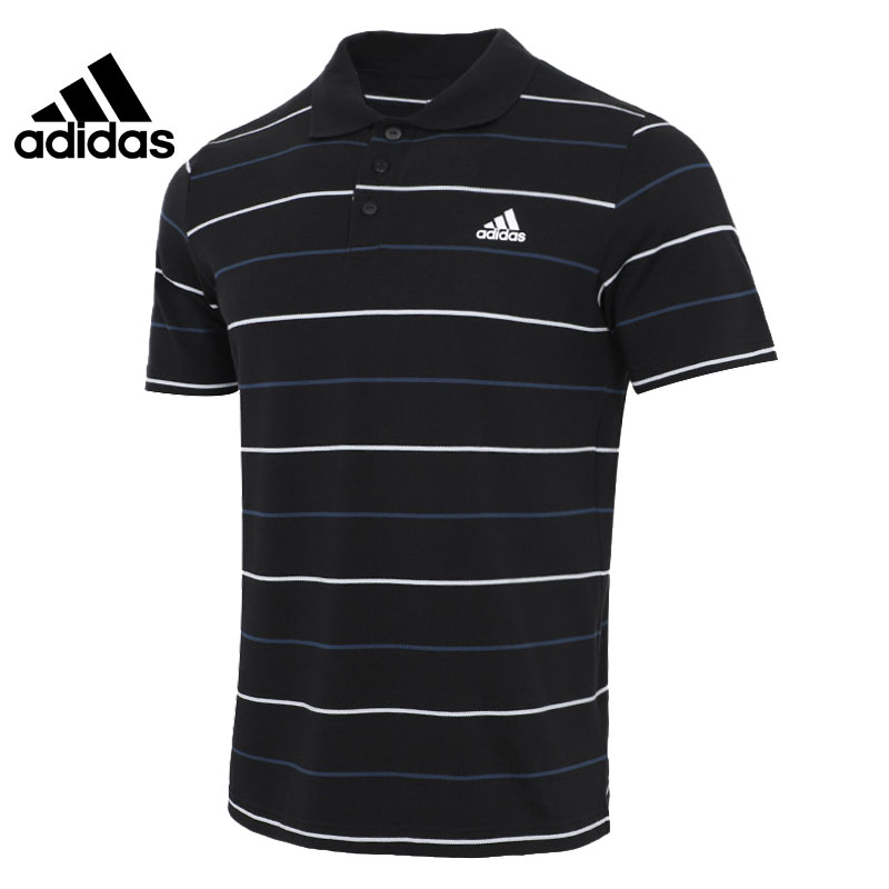 阿迪达斯短袖男2021夏季新款条纹POLO衫GP1009