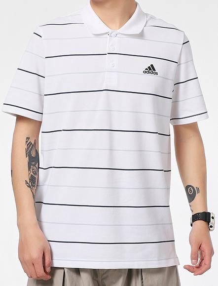 ADIDAS阿迪达斯 2021夏季男子运动休闲短袖POLO衫GP1000