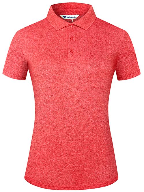 BUTNON巴特侬女装短袖 夏季翻领T恤女透气舒适有领运动服品牌W9102