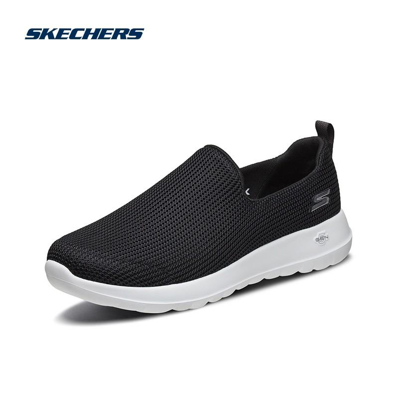 斯凯奇SKECHERS 经典休闲鞋 女子轻便舒适一脚蹬 运动鞋15637-BKW-NVLV-LGPK