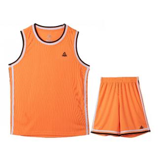 匹克PEAK女子篮球短套装透气比赛篮球服队服F79003-橙黄-黑色-彩蓝