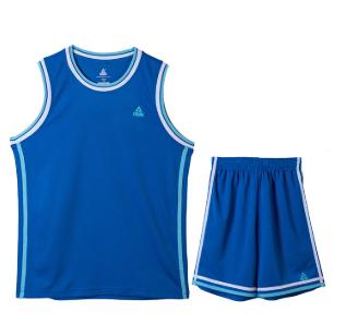 匹克PEAK男子篮球短套装透气比赛篮球服队服F79001-彩蓝-大白-橙黄-黑色