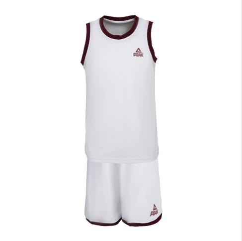 匹克PEAK男子篮球短套装透气比赛篮球服队服F791011-大白-深蓝-大红-黑色