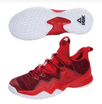 匹克PEAK 篮球鞋子 男 篮球外场鞋 TE93021A-红花纱-黑色/大红-黑色