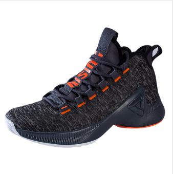 匹克PEAK 篮球鞋子 男 篮球实战鞋 TE94001A-深灰-红黑纱-黑色