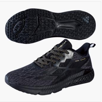 匹克PAEK 运动生活鞋子 男 缓震跑鞋 跑鞋 E94737D-黑花灰