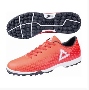 匹克PAEK 足球鞋子 男 足球鞋 E83331F-荧光红-黑色/水瓶蓝
