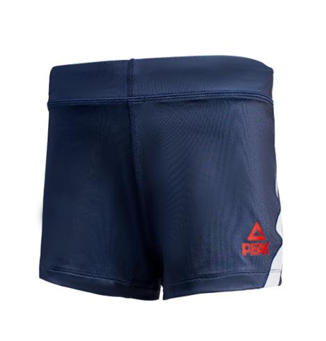 匹克PAEK 综合运动服装 女 排球服 针织短裤 F874068-深蓝-大红